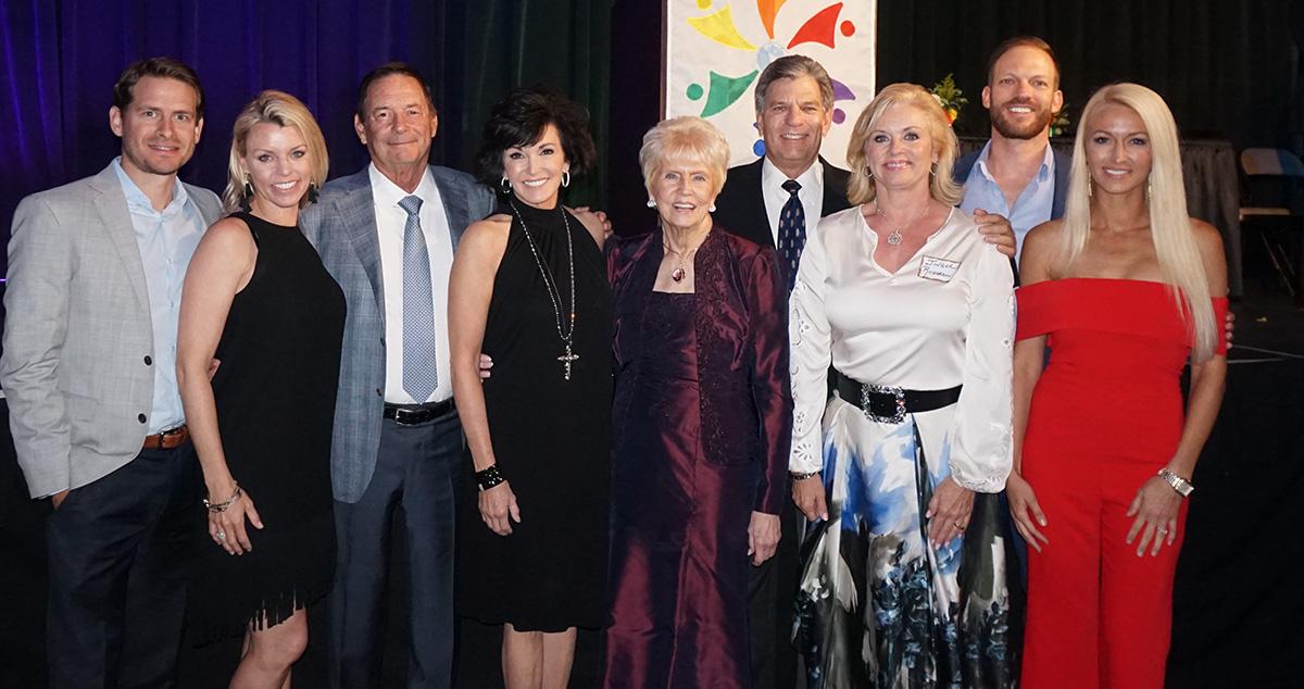 Marilyn with children and grandchildren - 2018 International Humanitarian Award.